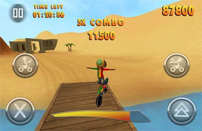 IOS игра FMX Riders. Скриншоты к игре Фристайл Мотокросс