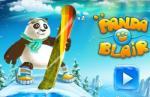 iOS игра Панда сноубордист / Panda Blair!